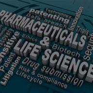 pharmaceutical & life sciences dark graphic